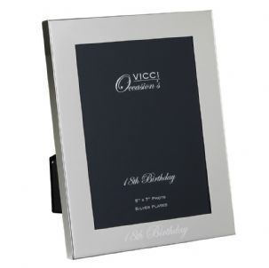 VICCI 53036 Silver-Plated 5x7 18th Birthday Photoframe